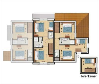 Nordzee Residence Cadzand-bad Vermietet Das Ferienhaus Typ Gb11 ... Badezimmer Von Oben